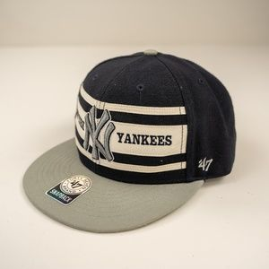 '47 Brand New York Yankees Blue Snapback Flat Bill